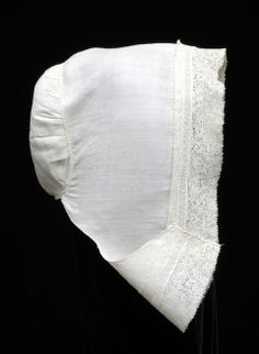 The Bowes Museum: Girl's cap of linen trimmed with bobbin lace, Flemish, c.1640