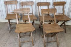 VINTAGE COUNTRY FARMHOUSE STYLE FOLDING CAFE CHAIRS LARGE QUANTITY