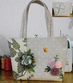 Handmade Embroidery Bag Shoulder bag  1601 by Mingxiastore on Etsy
