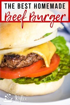 This easy Homemade Beef Burger Recipe will have you skip the drive-through and h. - This easy Homemade Beef Burger Recipe will have you skip the drive-through and head home to chow do - Best Beef Burger Recipe, Ground Beef Burger Recipe, Ground Beef Recipes, Simple Burger Recipe, Easy Burger Recipes, Easy Homemade Burger Recipe, Grilled Hamburger Recipes, Barbecue Recipes, Burger Patty Recipe