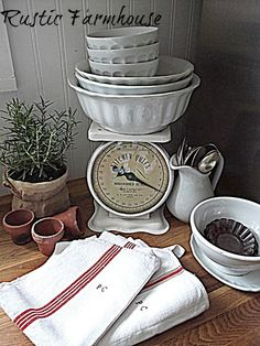 use dad's mercury mixer? Fern Creek Cottage: Blogger Home Tour: Rustic Farmhouse