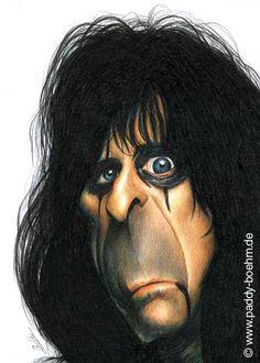 Alice Cooper  Artist: Patrick Mark Bohm website: http://www.paddy-boehm.de