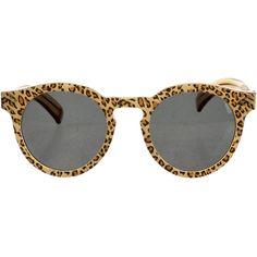 Pre-owned Illesteva Printed Leonard II Sunglasses ($125) ❤ liked on Polyvore featuring accessories, eyewear, sunglasses, animal print, leopard sunglasses, multi color sunglasses, multi colored sunglasses, illesteva and animal print sunglasses