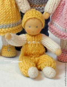 Вальдорфская игрушка ручной работы. Ярмарка Мастеров - ручная работа Игровые мини-куколки, 6-9 см. Handmade.