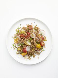 Summer Spelt Salad #myplate #grains #veggies #salad