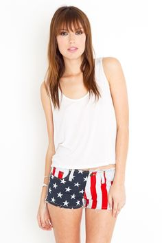 Ever since Calana showed me her vintage pair I've been looking for some American Flag shorts for my road trip...these are pretty close but they ain't no vintage Levis.