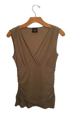 B Moss Olive Sleeveless Top #stellasaksa #bmoss #olive #sleeveless #top