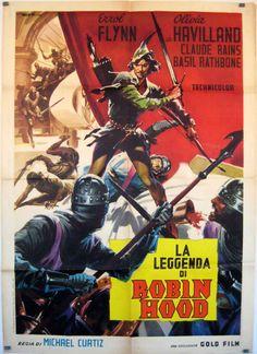 poster for Robin Hood starring Errol Flynn and Olivia De Havilland!