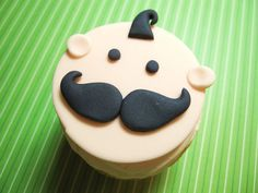 mustache shower | Mustache baby cupcake topper for baby boy baby ... | Baby Shower / Mu ...