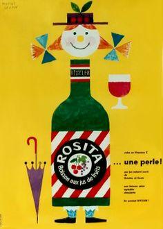 Rosita fruit juice poster, 1952. Herbert Leupin