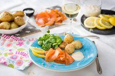 Citrongravad lax med aioli och rostad potatis - Viva vin o mat Aioli