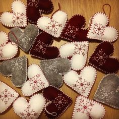 DIY christmas hearts