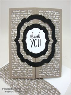 handmade thank you card ... interlocking gatefold format ... luv the clean lines from die cuts ... Stampin' Up!