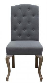 Dining chair - grey linen