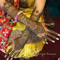Intricate Bridal Mehndi On Arms