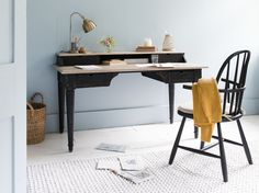This antique style wooden writing desk is just the ticket and is proving a big hit in Loaf HQ already. Desk Blotter, Dark Furniture, Wooden Furniture, Apartment Makeover, Comfy Sofa, Vintage Dressers, Wooden Desk, Furniture Collection, Ideal Home