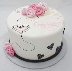 Rose Bridal Shower Cake   Jos Wedding
