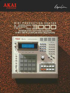 This historical timeline of the Akai MPC explores the rich history of this legendary piece of music production equipment. Studio Equipment, Studio Gear, Dj Equipment, Music Production Equipment, Recording Equipment, Music Machine, Drum Machine, Peter Gabriel, Hip Hop Drum