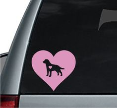 I Love My Labrador Retriever Decal