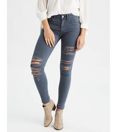 264a836a29f Shop at American Eagle for High-Waisted Jeans for Women that look as good  as they feel. Browse high-waisted jeggings, skinny jeans, Girlfriend jeans  and ...