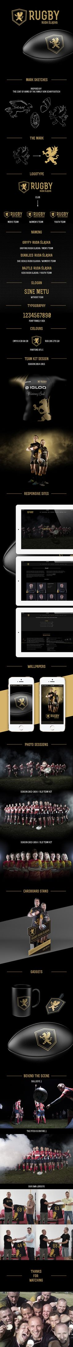 Rugby Ruda Slaska  by Damian Szews, via Behance
