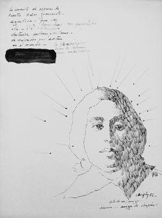 Bernardo CRESPIN : La coronita de espinas de Nuestro Señor Jesucristo ; 1982 ; tinta sobre papel ; 37,5cm x 27,5cm ; colección MDAA (adquirido del artista)
