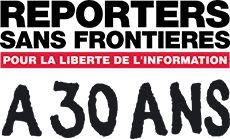 Logo Reporters sans frontières 30 ans