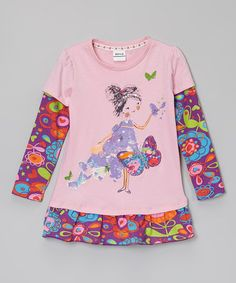 Loving this Pink & Purple Butterfly Girl Shirt - Infant, Toddler & Girls on #zulily! #zulilyfinds