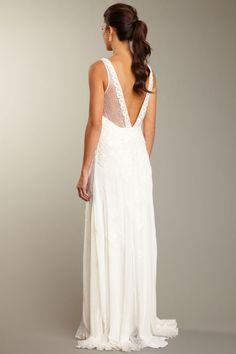 Sue Wong N0122 White Wedding Dress - Evening Gown