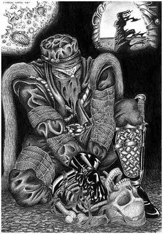 More Necroscope Fandom art! Love Brian Lumley and his Wamphyri!
