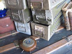 Vintage Industrial Metal Drawer Rustic Box for by preciousplaytime, $9.00