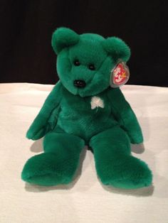 1998 Ty BEANIE BUDDY (buddies) ERIN the green shamrock BEAR plush NEW w/ TAGS #Ty