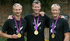 Hamish Bond, Mahe Drysdale and Eric Murray (Rowing, New Zealand) - 2 Golds for New Zealand on a day some were calling Black Friday! On ya  lads!