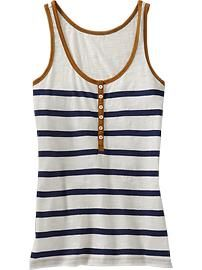 Striped Henley Tank  ~  Old Navy   $14.94