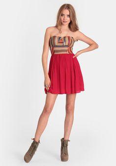 Olvera Street Strapless Dress
