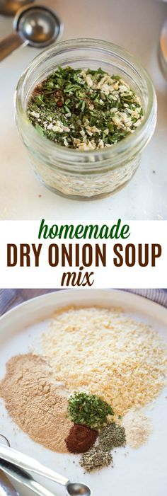 An easy recipe substitute for one envelope of dry onion soup mix. This easy recipe uses simple ingredients from your pantry! via @betrfromscratch #easy #seasoning #dryonionsoup