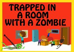 Can you escape the room? A live escape room challenge. Solve the mystery before time runs out. Choose your adventure: trapped with a zombie or Science Lab Alpha