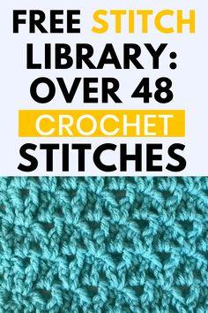 Different Crochet Stitches, Easy Crochet Stitches, Crochet Stitches For Beginners, Afghan Crochet Patterns, Crochet Basics, Stitch Patterns, Blanket Patterns, Cross Stitches, Filet Crochet