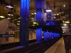 Ingo Maurer adds Color and Light to Metro Station Geocaching, Ingo Maurer, U Bahn, Metro Station, Design Your Home, Home Lighting, Contemporary, Modern, The Good Place