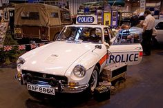 1972 MGB used by the Sussex Police in England. v@e