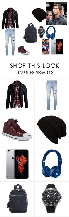 """Percabeth Music? - 2 Temporada Cap. 10"" by thaliasalvatore ❤ liked on Polyvore featuring Balmain, Converse, Beats by Dr. Dre, Kipling, Alpina, men's fashion and menswear"