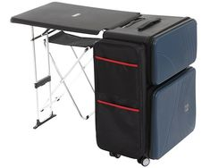 Nomad Suitcase - Have a desk no matter where you are! The ideal furniture set for globetrotting businessmen, the Nomad Suitcase by Bibi Lab is a rolling suitcase and desk combo. Just fold out the desk whenever you need a desk to work at, whether it be in an airport, in a park, or in almost any public space. A ...