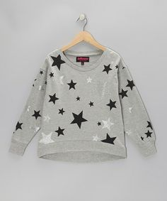 Take a look at this Gray Sparkle Star Sweatshirt - Girls by Dollhouse on #zulily today!