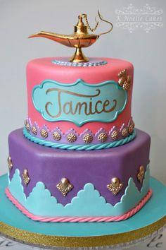 Jasmine theme cake by K Noelle Cakes