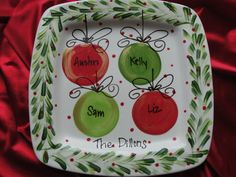 Personalized Christmas Platter. $45.00, via Etsy.