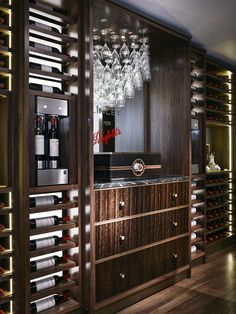 #LINLEY #WineRoom #FittedCabinetry