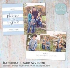 Happy Hanukkah Card Template AC051   Paper Lark Designs