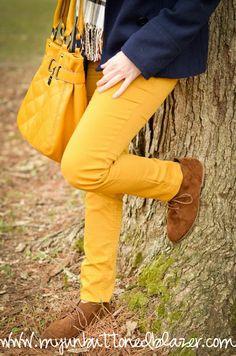 Mustard Denim for Fall.
