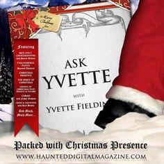 Most Haunted's Yvette Fielding in the Christmas Edition of wwwhaunteddigitalmagazine.com Most Haunted, Ghost Hunting, Crime, Christmas, Lute, Xmas, Navidad, Noel, Crime Comics
