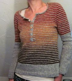 Another knitter's version of the free Driftwood pattern on Ravelry. Knitting Designs, Knitting Projects, Knitting Patterns, Crochet Patterns, Punto Fair Isle, Jumper Patterns, Pulls, Hand Knitting, Knitwear